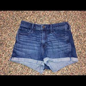 Hollister dark wash high rise shorts size 26